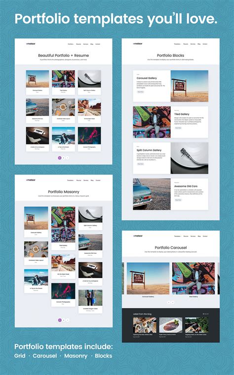 meteor beautiful portfolio and resume wordpress theme by