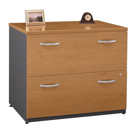 Bush Bbf Series C 36w 2dwr Lateral File In Natural Cherry Wooden Lateral File Cabinets 2 Drawer