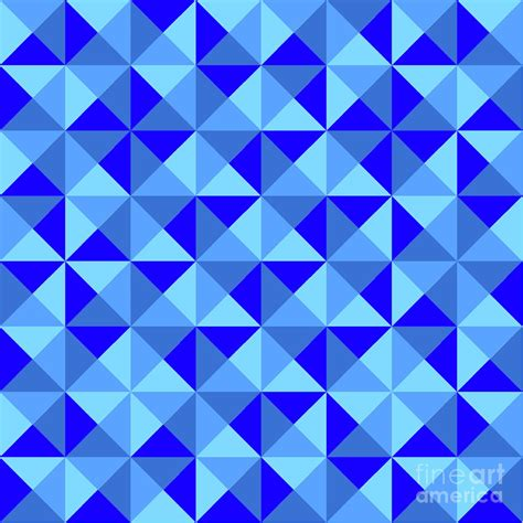 blue artist rotated blue triangles by brown