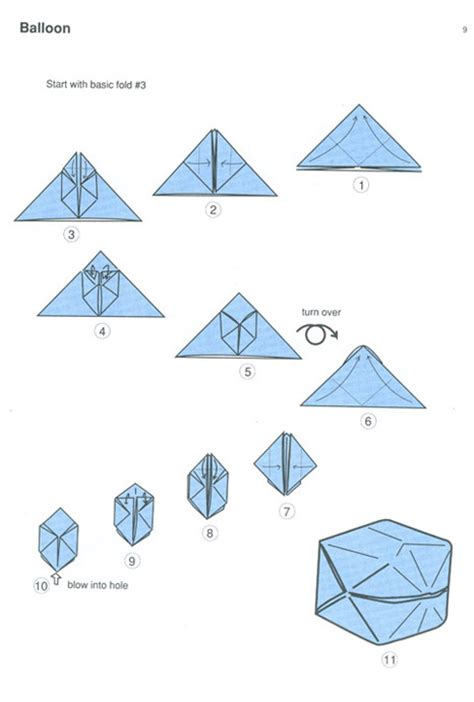 Folding Origami - origami balloon diagram 171 embroidery origami