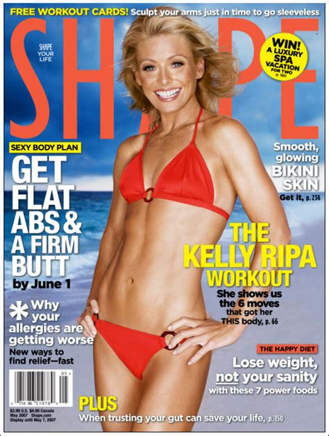 Ripas Outie Goes Un Airbrushed by Ripa Cover Deja Vu Belly Button Airbrushing Huffpost