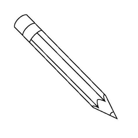 pencils a classic pencil with the eraser coloring page