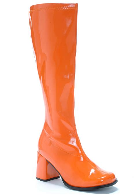 70s boots retro orange 70s gogo boots retro disco accessories