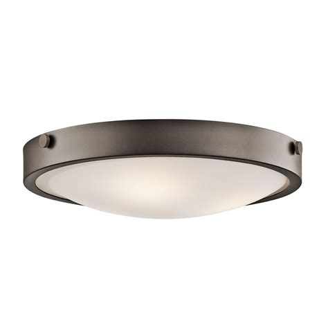 flush mount light shop kichler lytham 17 5 in w olde bronze flush mount