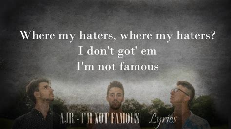 this is not fame a from what i re memoir books ajr i m not lyrics whole song
