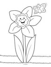 daffodil color daffodil field coloring page coloring pages