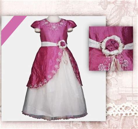 Gamis Anak Flower Tutu Pink jual baju dress pakaian anak cewek cantik dan lucu