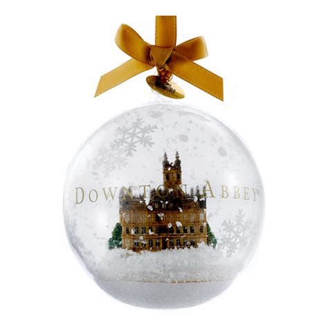 downton abbey castle in glass 4 1 2 inch holiday ornament