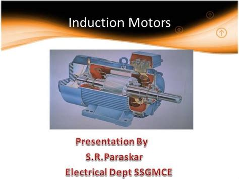 induction motor ppt induction motor authorstream
