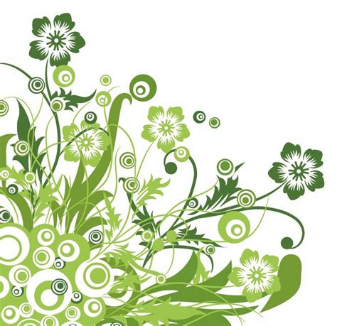 free design graphic images green floral design vector graphic free vector graphics