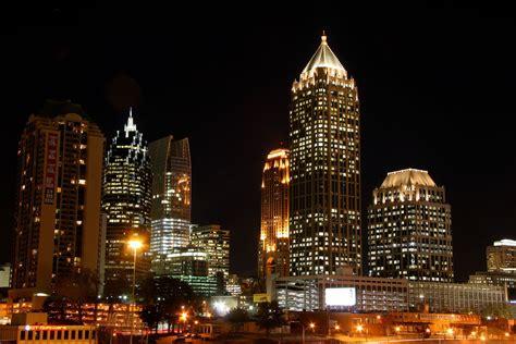 light the atlanta atlanta city lights the atlanta midtown area as seen