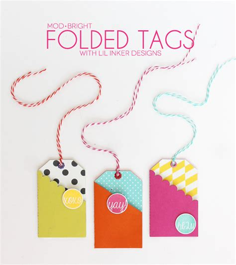 Gift Card Stickers - modern bright easy gift card tags a little craft in your daya little craft in your day