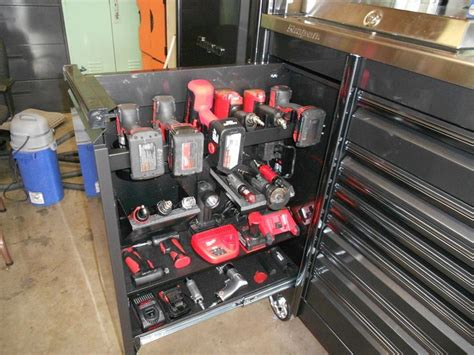 Power Tool Storage Garage Journal Snap On Epiq The Garage Journal Board Tool Boxes And