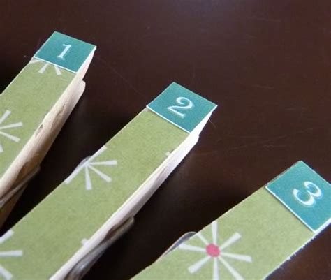 how to make your own calendar out of paper make your own advent calendar with clothespins
