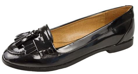 womens loafers with tassels womens black tassel loafers faux leather school