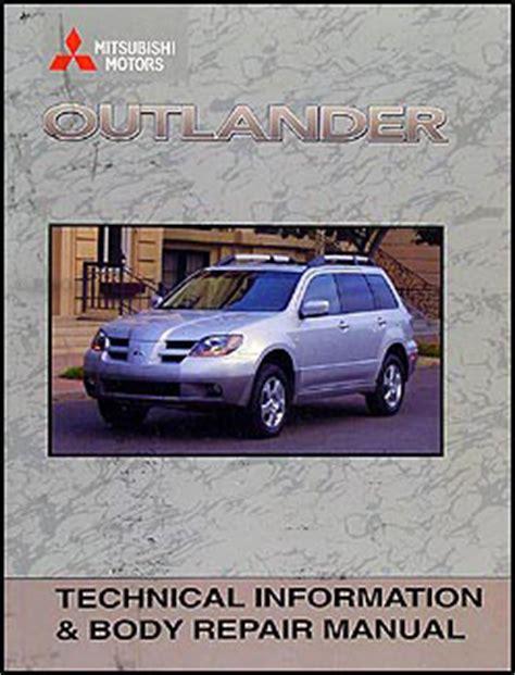 free online auto service manuals 2003 mitsubishi outlander parental controls 2003 mitsubishi outlander body manual original