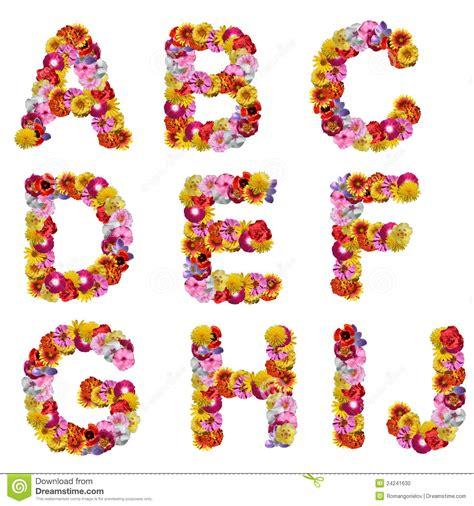 alfabeto dei fiori alfabeto dei fiori fotografia stock immagine 24241630