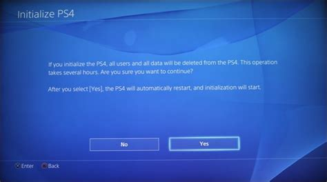 factory reset the ps4 how to factory reset your playstation 4