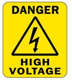 Awas Tegangan Tinggi 2000pcs lot 76x90mm danger high voltage waterproof