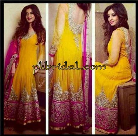 colour themes for mehndi mehndi dresses pakistani wedding dressess party
