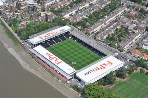 Craven Cottage Stadium by An Aerial Photograph Of Fulham Football Club S Craven