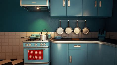 retro kitchen customizable retro kitchen by nguyen cong thai in