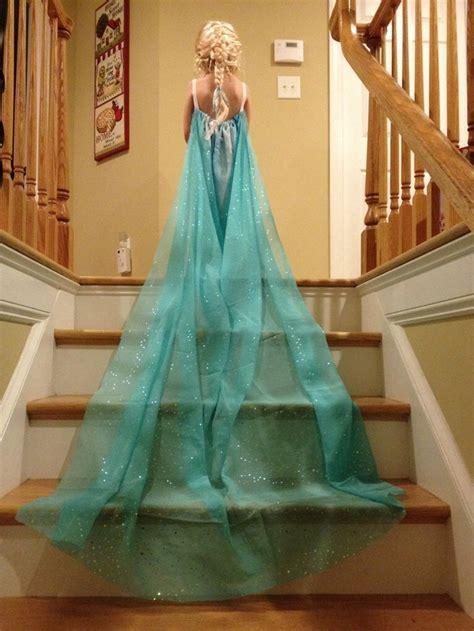 dress curtains diy elsa dress from curtain sheer sewing clothes