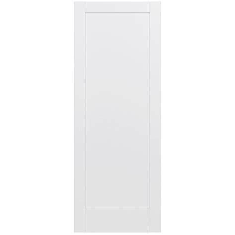 Jeld Wen 36 In X 96 In Moda Primed White 1 Panel Solid 36 X 96 Interior Door