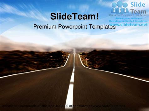 motion powerpoint templates road in motion future powerpoint templates themes and