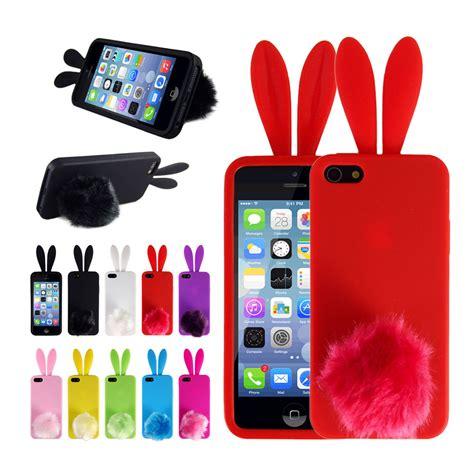 Line Silikon Soft Iphone 5 5s Se 6 6s 6 6s soft bunny rabbit tpu back protector phone cover