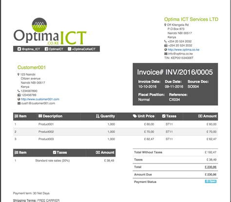 sle invoice kenya professional invoice sales order templates odoo apps