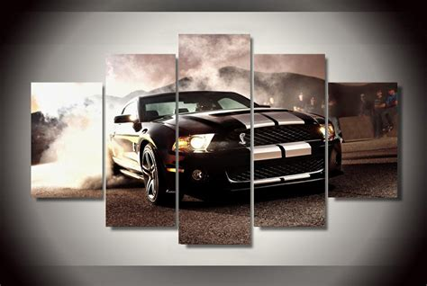 ford mustang home decor 5 pieces ford mustang cobra gt500kr cars modern home wall