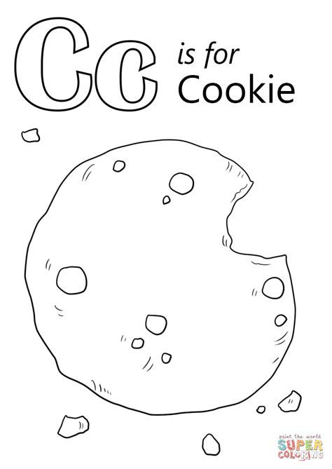 c coloring pages letter c is for cookie coloring page free printable