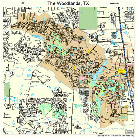 woodland texas map the woodlands texas map 4872656