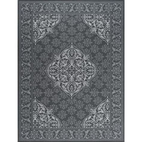4x6 Area Rugs Home Depot Tayse Rugs Majesty Charcoal 3 Ft 11 In X 5 Ft 3 In Traditional Area Rug Mjs3618 4x6 The