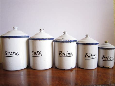 Food Canisters Kitchen by Vintage French Canister Set By Le Box Shop Traditional
