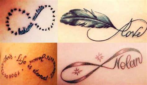 scritte piede fare un tatuaggio tatuaggio infinito tantissime foto e idee beautydea
