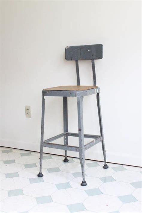Shop Stool by Vintage Industrial Shop Stool