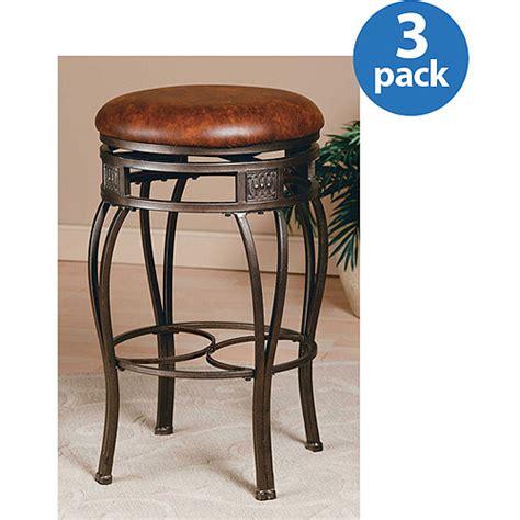 Bar Stool Sets Of 3 Hillsdale Furniture Montello 30 Quot Backless Swivel Bar Stool Set Of 3 Steel Finish Walmart