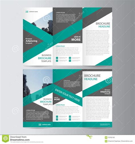 layout of leaflet green trifold annual report leaflet brochure flyer