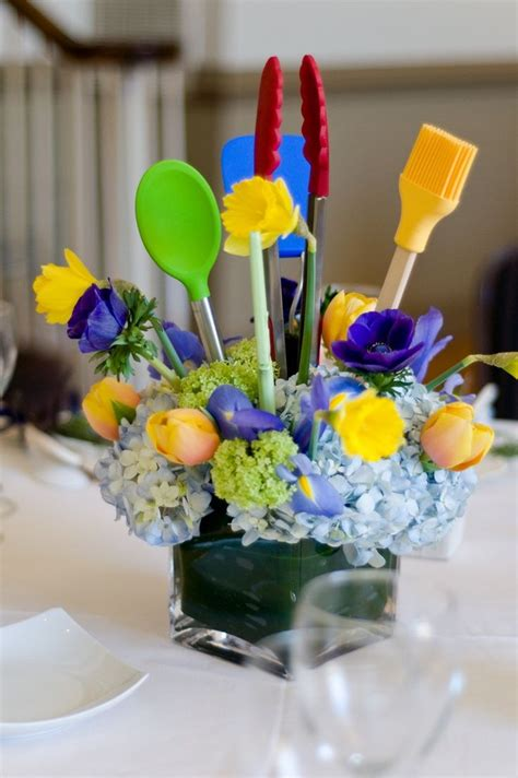kitchen themed bridal shower centerpieces projects to