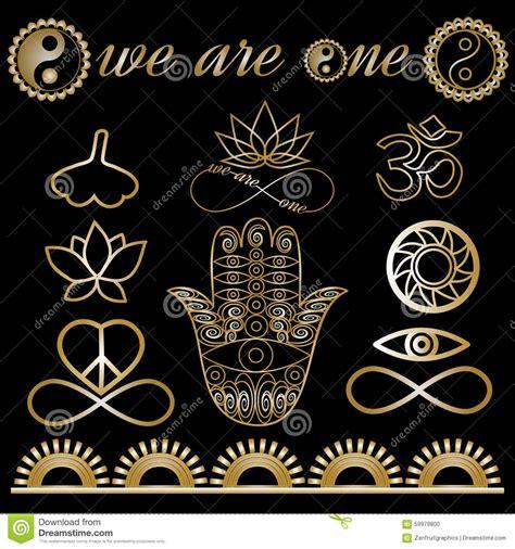 imagenes de simbolos misticos yoga logo yoga icons mystic spiritual symbols gold