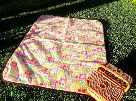 Picnic Blanket Picnic Rug Hawaiian Vintage Style Outdoor Rug Outdoor Picnic Rug