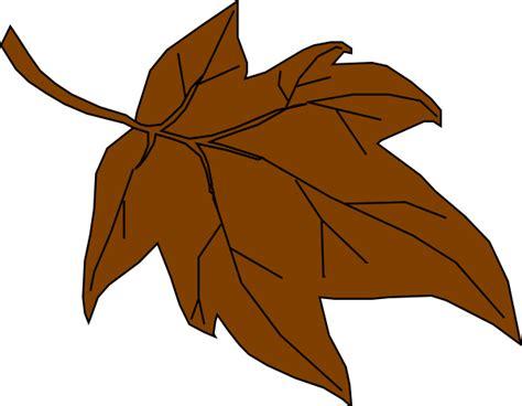 brown clip brown autumn leaf clip at clker vector clip