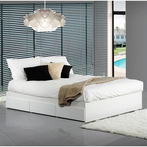 nexera bed nexera blvd reversible storage bed in white lacquer