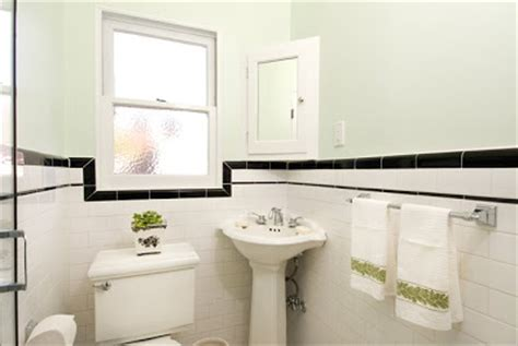 1930 Bathroom Design New Home Construction 1930 S Bathroom With White Subway Tile And Black Trim