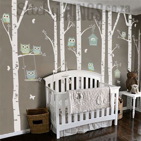 nursery owl wall decals the owl nursery wall vinyl forest owl nursery decals