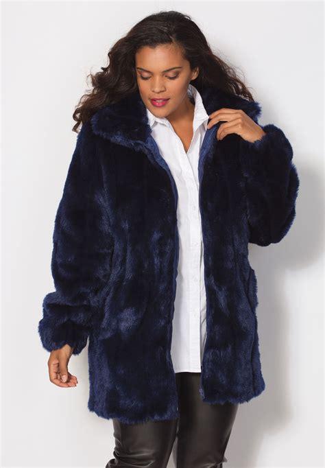 imitation fur coat plus size leather and faux fur