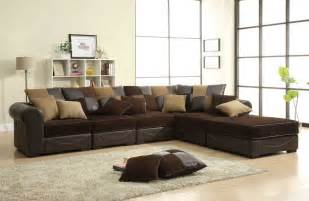 Brown Sectional Sofas Homelegance Lamont Modular Sectional Sofa Set B