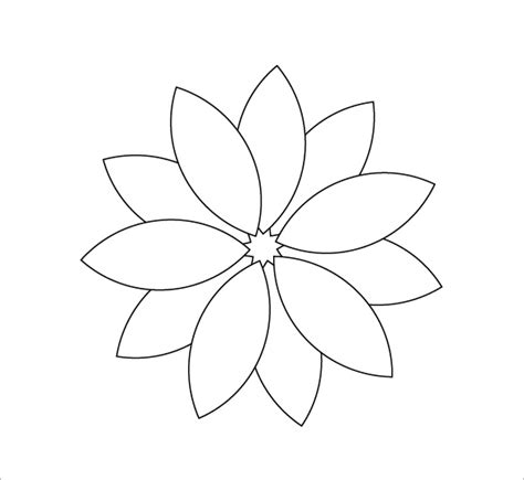 pattern for flower petals 12 printable flower petal templates free download free